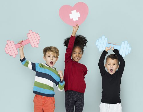 gene therapy | AADC News | Children holding placards denoting strength